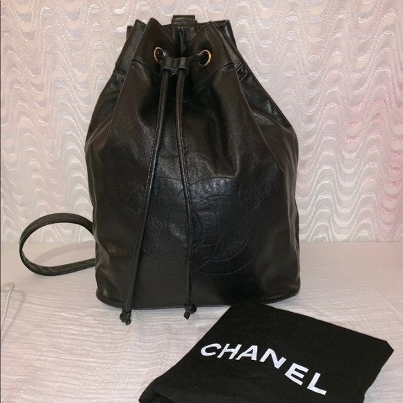 ce6c1c25d5e1 CHANEL Bags | Authentic Black Lambskin Leather Backpack | Poshmark